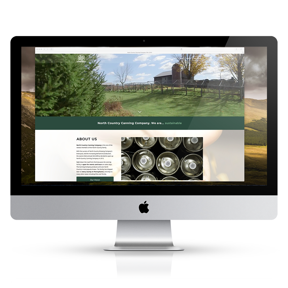 North Country Brewing web design